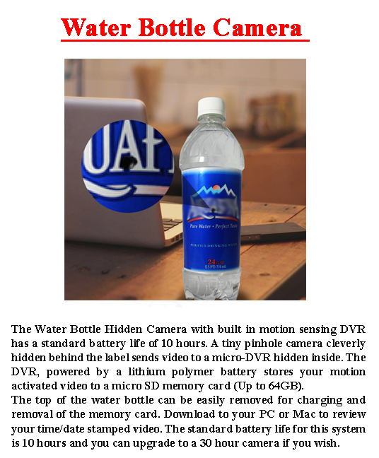 Water Bottle Hidden Camera