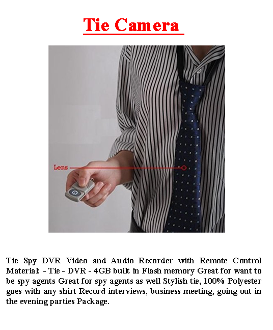 Tie Camera Video Recorder